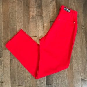 Vintage 🍒 red ultra high waist cropped jeans!